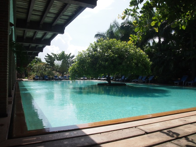 The pool at Mango Hill Resort, Pondicherry
