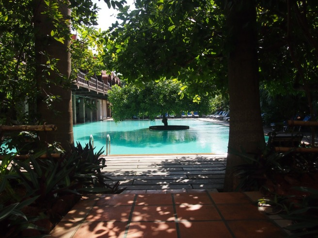 The Pool at Mango Hill Resort in Pondicherry