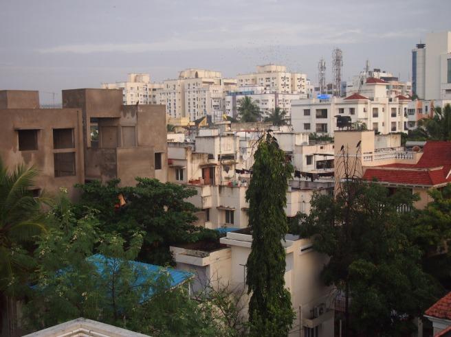 Thiruvanmiyur Rooftop View of Chennai