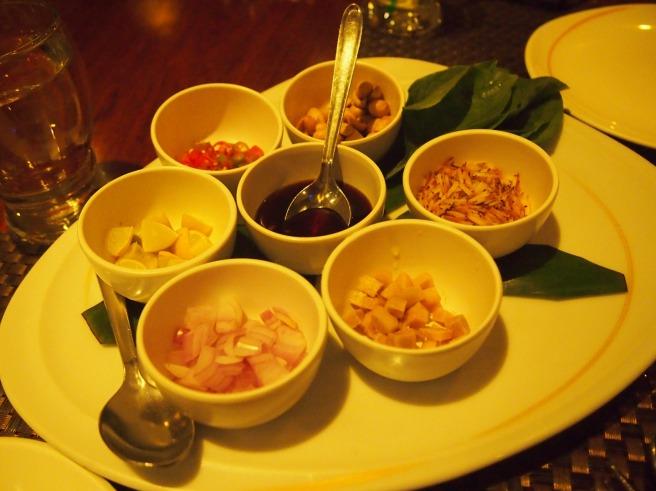 DIY Amuse-Bouche at Benjarong Thai Restaurant, Chennai
