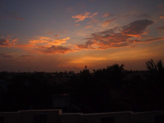 Sunrise in Thiruvanmiyur, Chennai, India