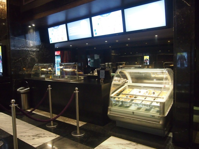 Ice Cream Counter at Luxe Cinemas in Phoenix Mall, Chennai, India