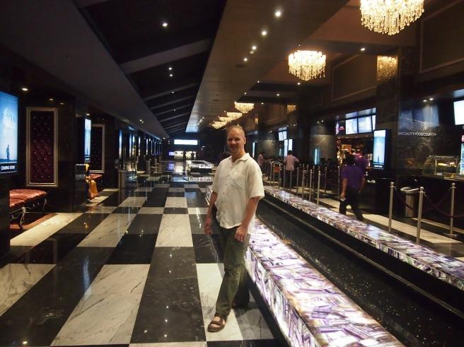Alton in the Luxe Cinema Lobby, Chennai, India